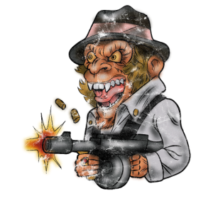Affen Monkey Gangster der 20er Jahre Geschenk