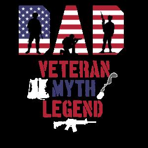 Dad Veteran Mythos Legend Stolzer Veteran Soldier