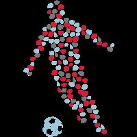 Spieler Fußballspieler Fußball Dots
