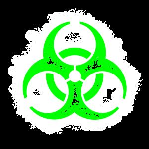 Bio Hazard Umriss gift-grün-weiß