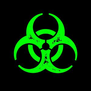 Bio Hazard Umriss gift-grün-schwarz