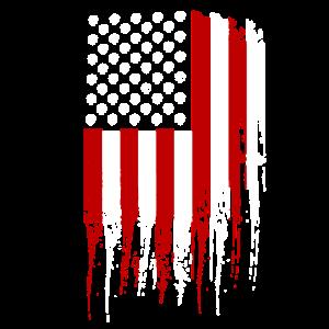 Taktische Schädel amerikanische Flagge