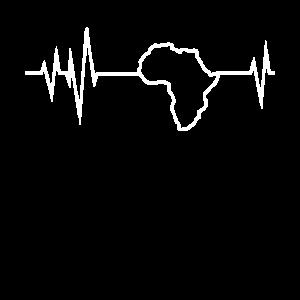 Afrika Motherland Heartbeat EKG Herz Grafik