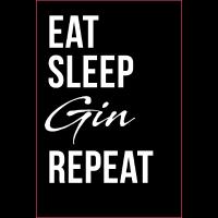 Gin Poster Geschenk Eat sleep Gin repeat Alkhol