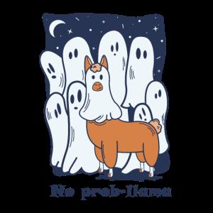 Halloween Llama Lama No Prob Llama Noproblama