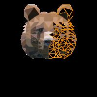 Geometrisches Bärengeschenk