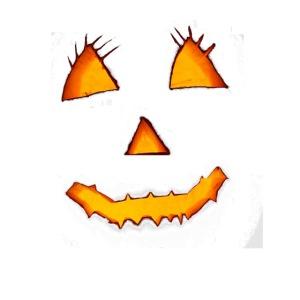 HALLOWEEN Gruselig lächelndes Kürbis Gesicht.