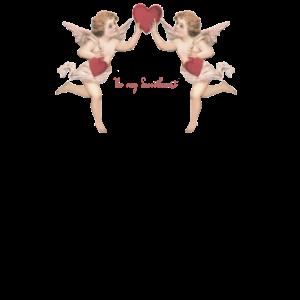 Engelchen mit Herz im Nostalgie Stil