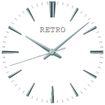 Retro watch face