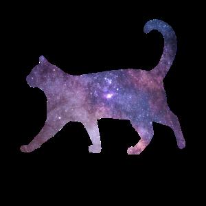 Galaxy Katze Space Cat Weltall Geschenkidee