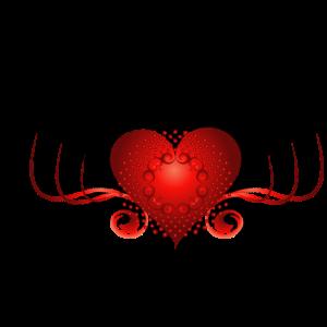 Wundervolles dekoratives Herz mit Schmutz.