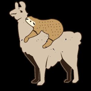 Faultier Süß Tier Lama Geschenk