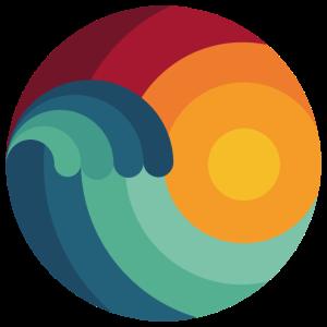 Surfer Ozean Geschenk Welle Windsurfing Shaka