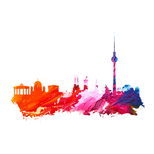 Berlin Silhouette Poster