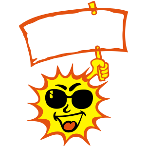 Sonnenblende Sonnenzeichen Text