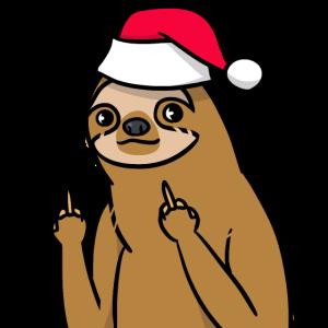 Freches Faultier Weihnachtsmann Tier Geschenk
