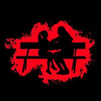 Silhouette Kind Rot und Schwarz Umriss