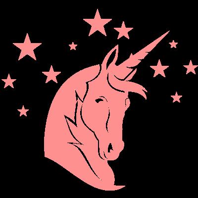 Weises Einhorn - Weises Einhorn mit Sternenhintergrund, Fantasyfigur - unicorn,fantasy,Wappentier,Sterne,Sterndeuter,Schwäbisch Gmünd,Märchen,Hellseher,Einhorn