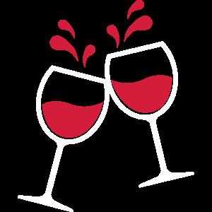 08 2 Weingläser Wein Rotwein Glas Wein Symbol