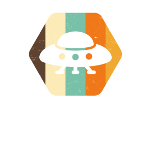 Vintage Alien UFO Retro-Farb-Vibes