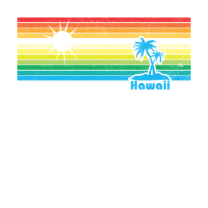Gestreifter Weinlese-beunruhigter Regenbogen Hawaiis