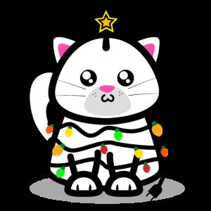 Weihnachten Katze Shirt Geschenk Weihnachtsmann