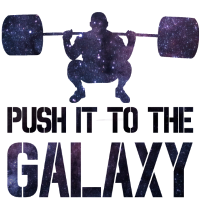 Push it to the Galaxy Training Sterne Geschenk