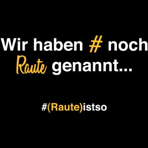 Hashtag Raute Früher # 90er Geschenkidee
