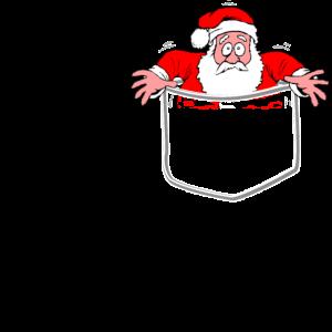 Santa Pocket - Weihnachten, Geschenk, Advent