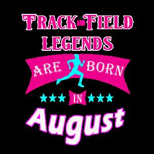 Leichtathletiklegenden werden im August geboren