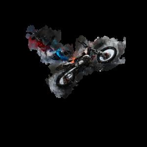 motocross, Motorrad, bike, watercolor, Geschenk