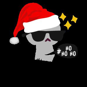 Schädel im Weihnachtslook Ho Ho Ho Shirt