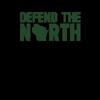 Verteidige den North Green Bay Yellow und Green Wisconsin