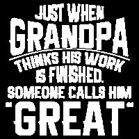Jemand nennt ihn großes Großvater-Hemd