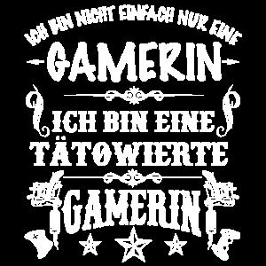 Gamerin Tätowiert Tattoos Zockerin Geschenk