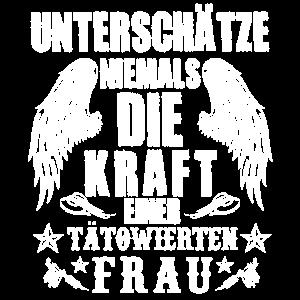 FRAU TÄTOWIERT KRAFT TATTOOS FLÜGEL GESCHENK