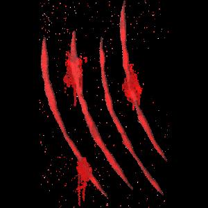 Blutige Krallen Kratzer von Monster Klaue 3