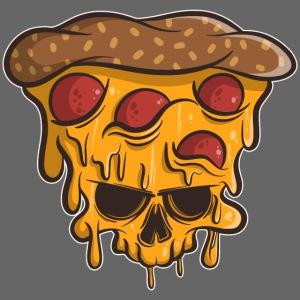 Zombie Halloween Pizza Skull
