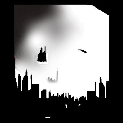 City moonlight - Stadt in der Nacht - Geschenkidee,Mond,Stadt,Stadtbild,Geschenk