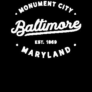 Vintage klassische Retro Baltimore Maryland Neuheit