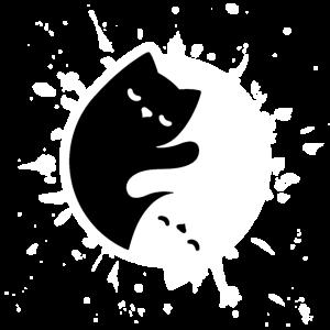Katze yin yang Kung fu Haustier Katzenauge Kater