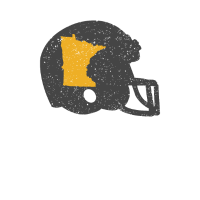 Zustands-Form von Minnesota auf Weinlese-Football-Helm