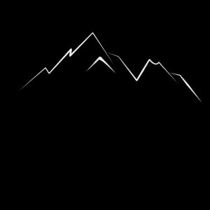 Berge, Wildnis und der Hirsch