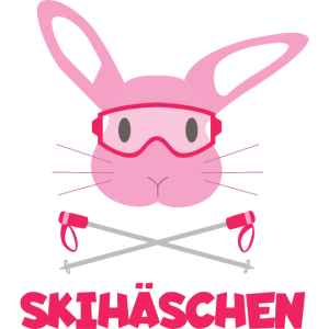 Skihäschen Pink - Skihase