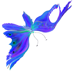 Blue Diamond Butterfly Fantasy