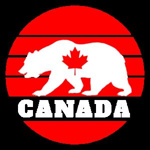 Kanada Bär mit Ahornblatt / Geschenk Nordamerika