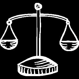 Waage Jura Student Recht Gesetz wiegen Geschenk
