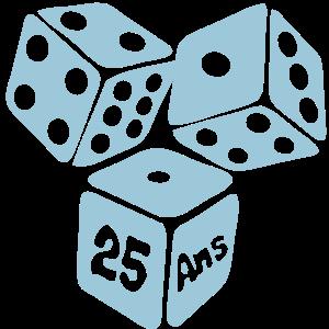 25 Jahre Jahrestag des Starts Spiel