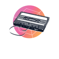 Retro Kassette Vintage 80er 90er Dampf