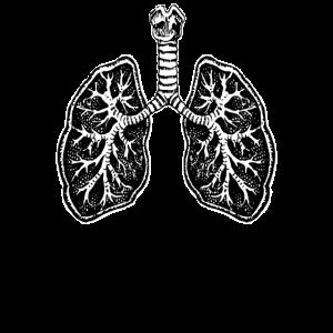 Lunge Lungenflügel Anatomie Atmen Atmung Geschenk